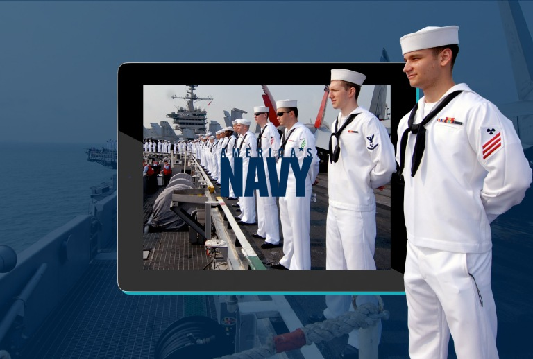 portfolio - navy background