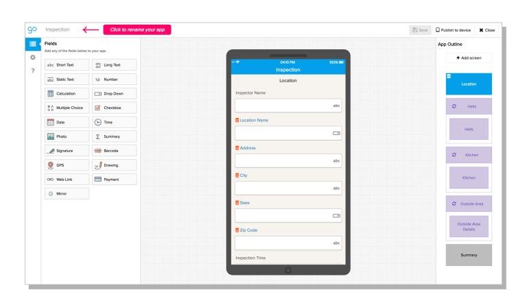 img - gocanvas app builder