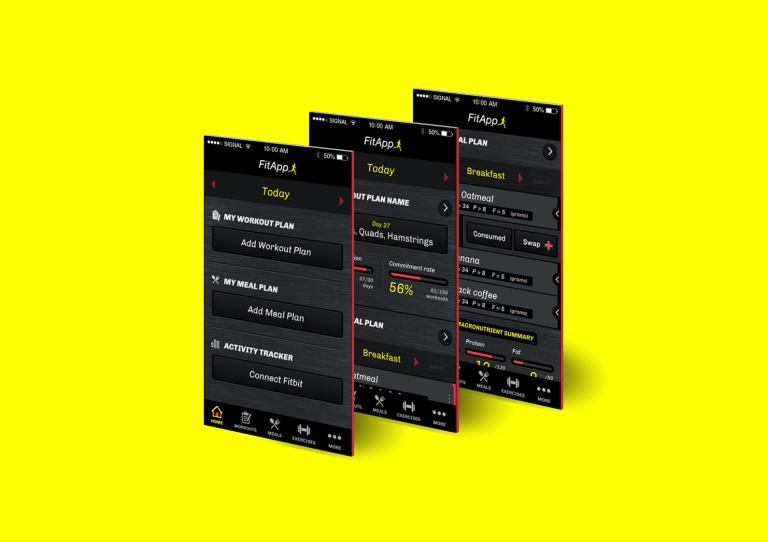portfolio - fitapp 1
