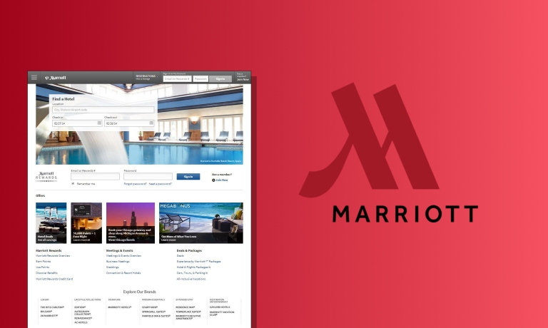 hero - marriott search product