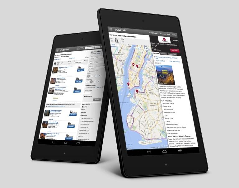 portfolio - marriott web responsive tablet design