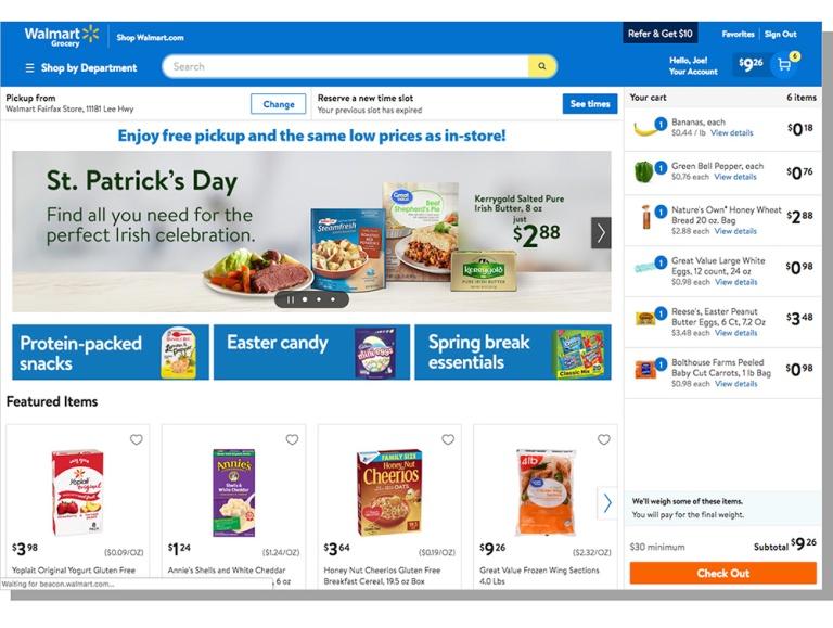 img - Walmart grocery website