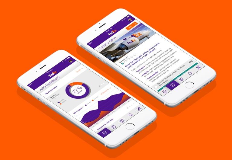 portfolio - fedex mobile screens